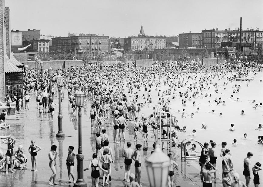 McCarren swimming pool. July 12, 1937.