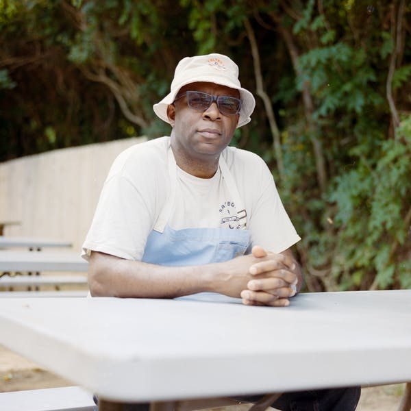 Ricky Moore, chef and proprietor of the Saltbox Seafood Joint, Durham, North Carolina.