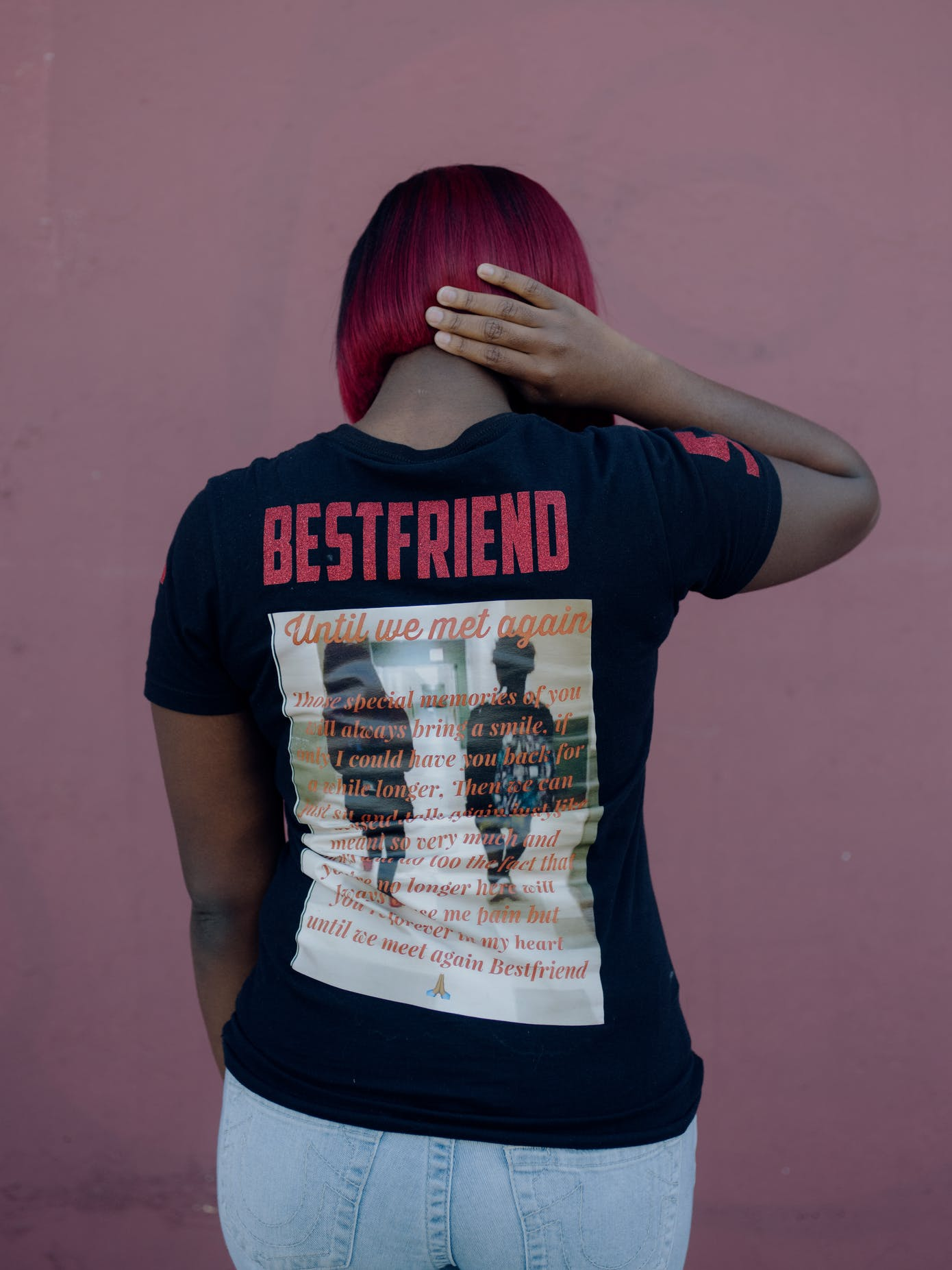 69737a96 Lateonna Guillaume, 17, wears a T-shirt honoring her best friend, Terrell  Thomas, 17, who was shot and killed in Opa-locka on October 8, 2017, ...