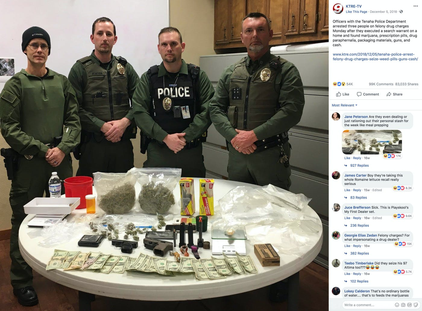 A Visual History of Police Drug Bust Photos | Topic