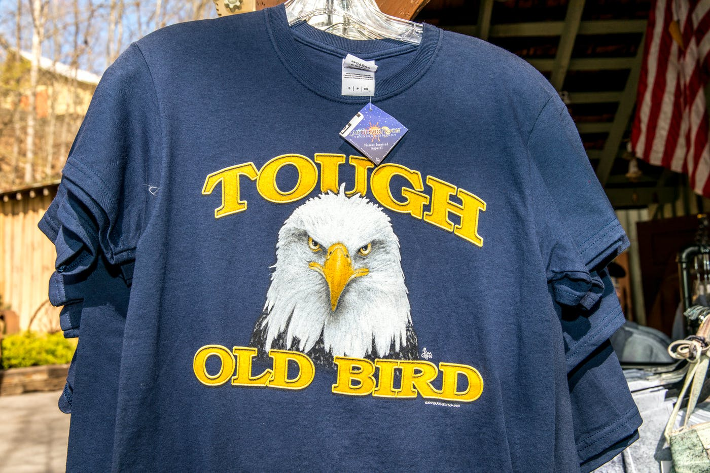 691e92757 A T-shirt for sale at Dollywood's Eagle's Nest Store, which is owned and  operated by the AEF.
