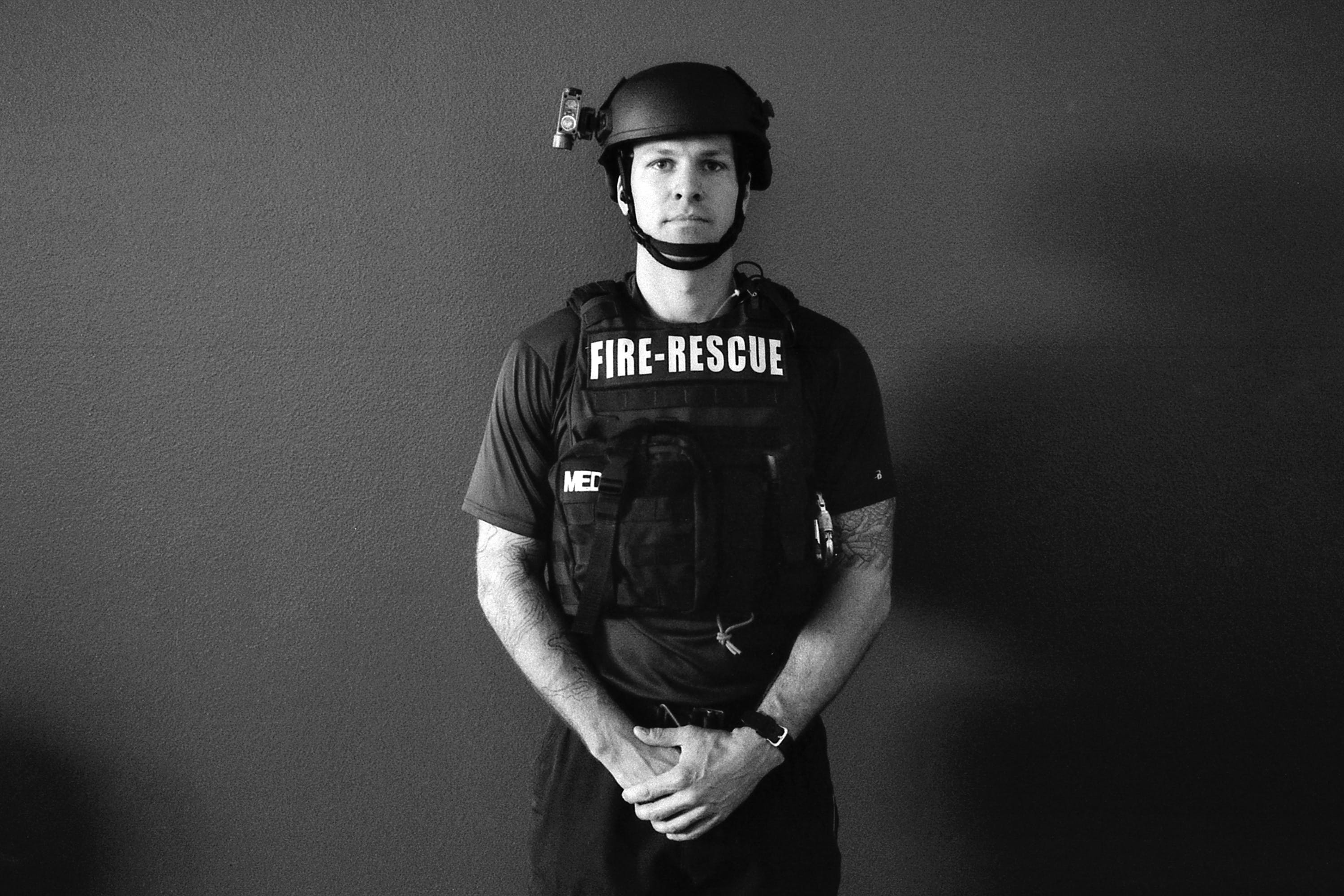 Adam Fry, Tactical Rescue, San Antonio Fire Department, Station 11.
