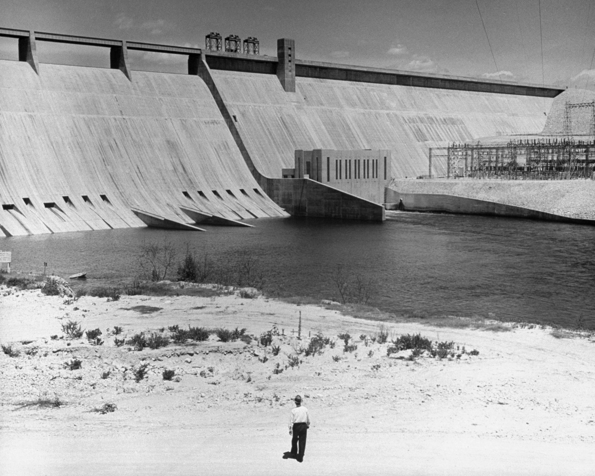 Mansfield Dam in Travis County.