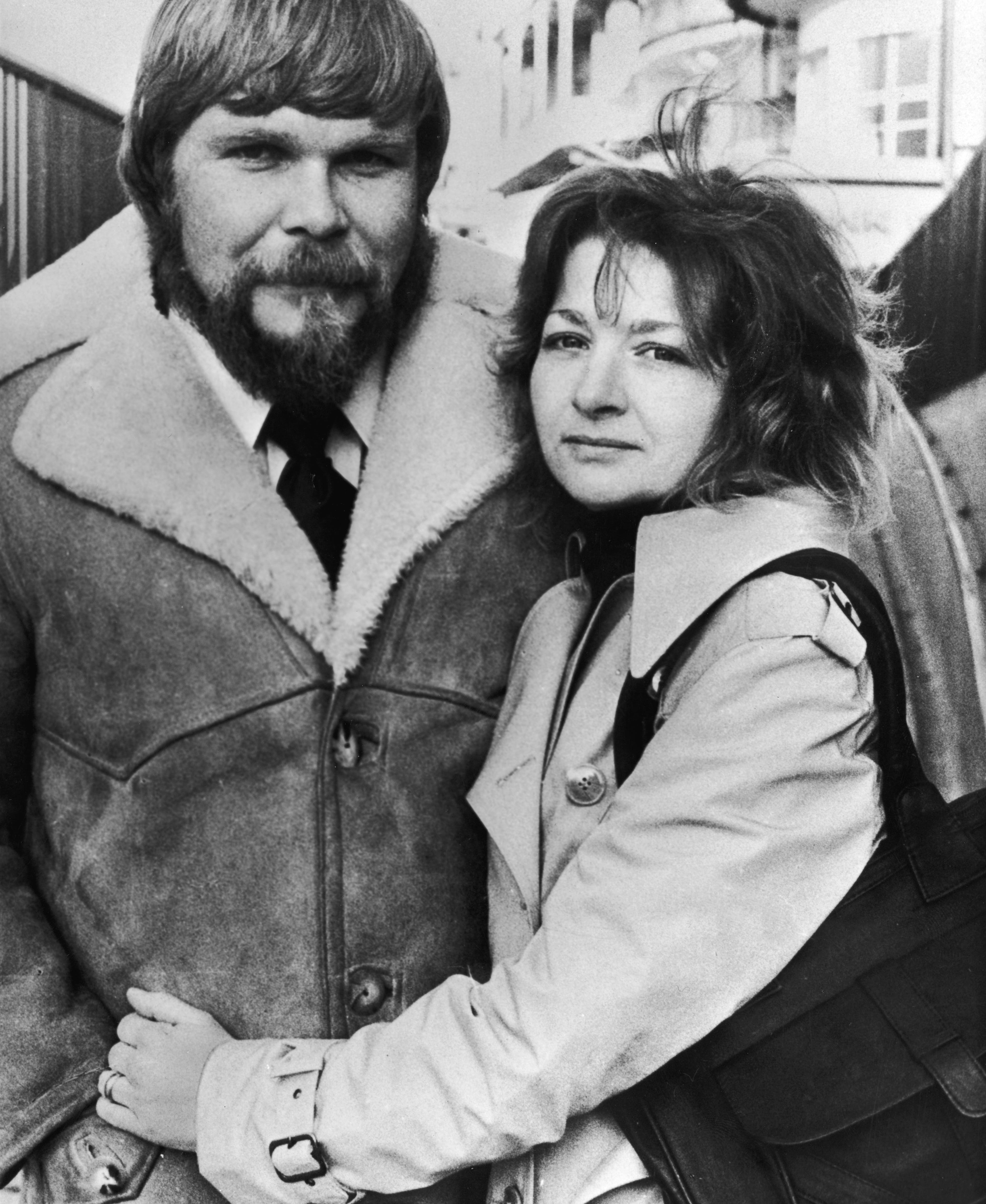 George and Kathy Lutz, former owners of the haunted house on 112 Ocean Avenue in Amityville, New York, pose during a press tour for the book, The Amityville Horror in London, England. The Lutzes recounted their stories to scriptwriter Jay Anson who wrote the book.  (Photo by Hulton Archive/Getty Images)