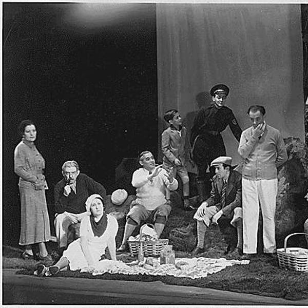 "The Jewish Theatre Unit's 1936 production of ""It Can't Happen Here,"" which opened simultaneously in 21 theaters across the country as part of the Federal Theatre Project."