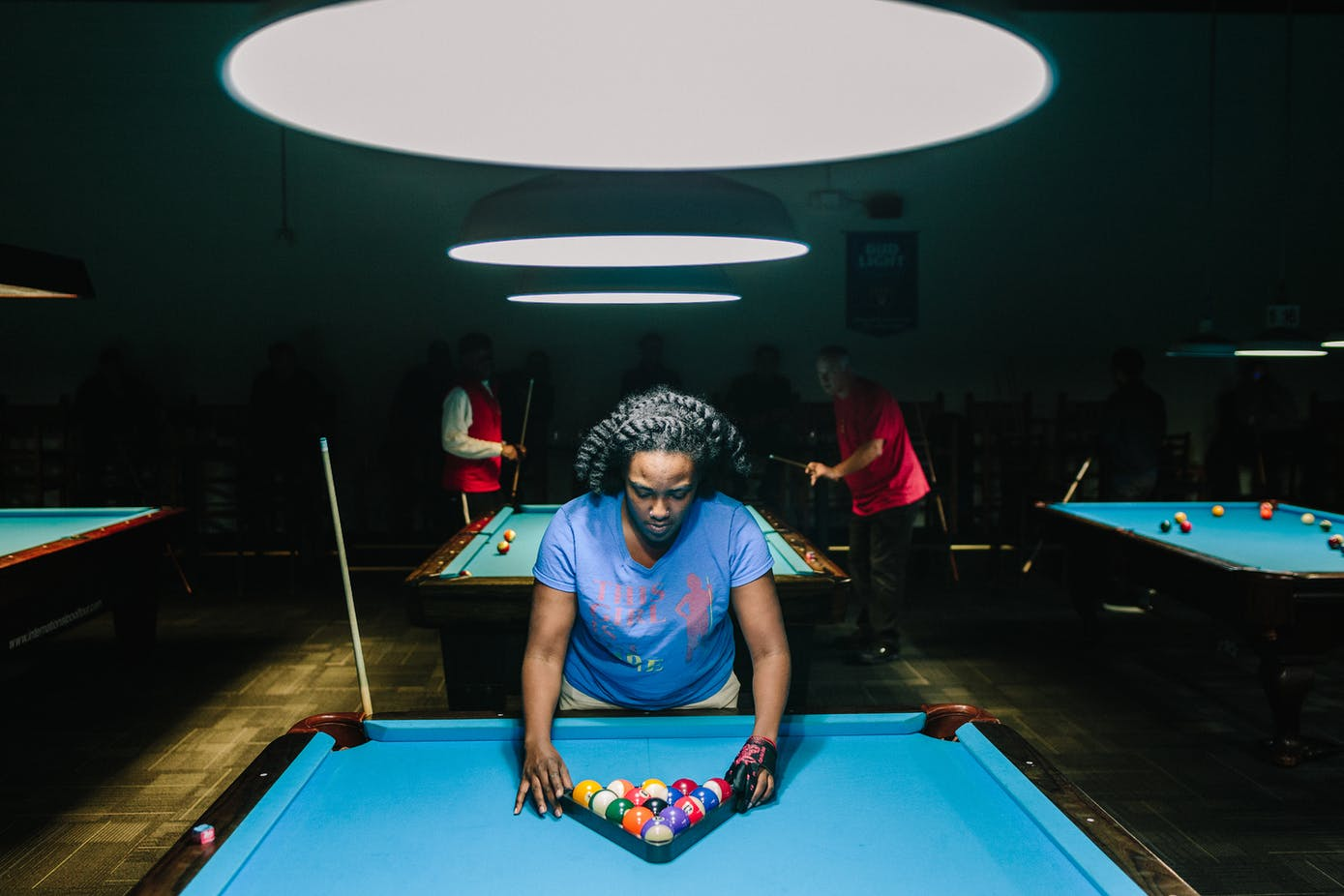 83fda108 Amani Ali plays with her team during a weekly billiards tournament at the  Broken Rack in Emeryville, California.